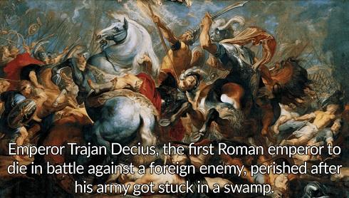 مرگ دسیوس در روم باستان