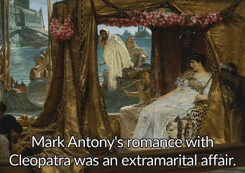 رابطهی عاشقانه ی مارک آنتونی