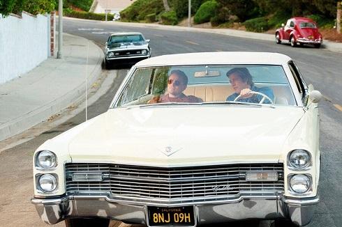 اتومبیل برد پیت و دی کاپریو در فیلم روزی روزگاری هالیوود