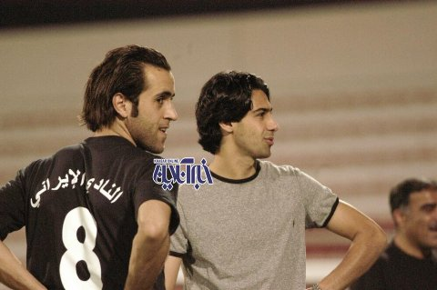 علی کریمی و فرهاد مجیدی در دوبی