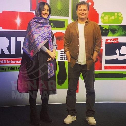 میترا ابراهیمی و پیمان قاسم خانی در جشنواره فیلم حقیقت
