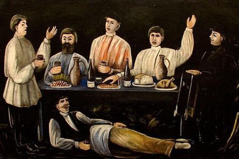 نقاشی اثر نیکو پیروسمانی Niko Pirosmani
