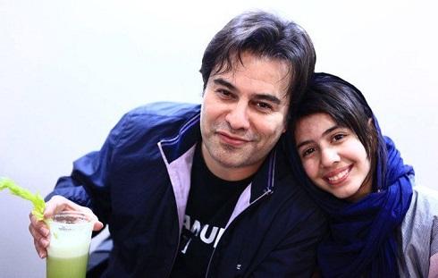 پیمان قاسمخانی و دخترش پریا