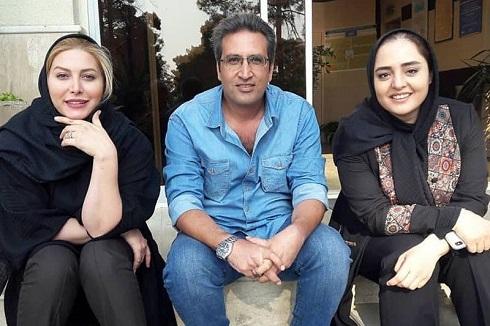 نرگس محمدی و فریبا نادری در پشت صحنه ستایش