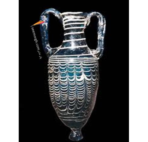 عطردان شیشه ای به روش قالب شنی قرن اول قبل میلاد