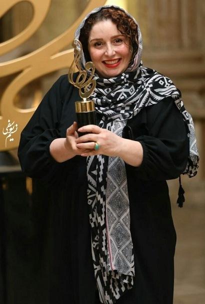 مدل مانتو ژاله صامتی در جشن حافظ 99,مدل مانتو بازیگران زن ایرانی در جشن حافظ 99