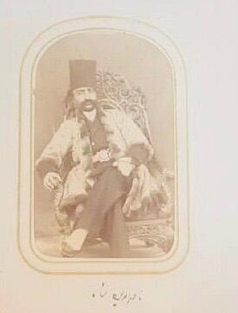 آلبوم عکس های ناصرالدین شاه در کاخ گلستان