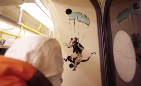 نقاشی موش اثر بنکسی