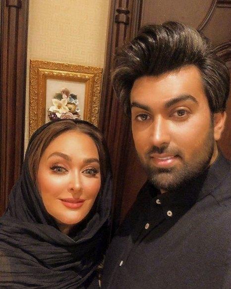 عکس جدید الهام حمیدی و همسرش