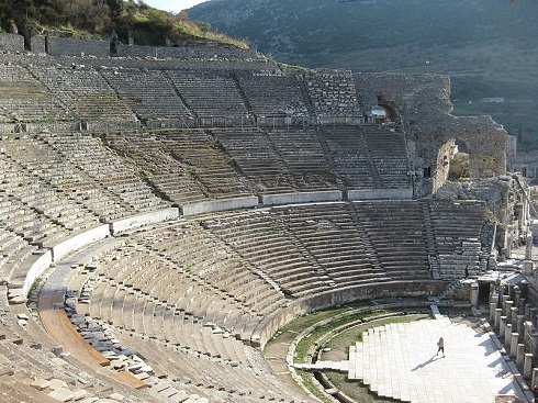 آمفی تئاتر افسوس در جنوب غربی ترکیه