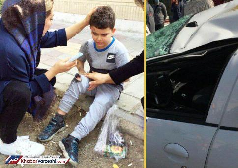 تصادف شدید اتومبیل همسر وریا غفوری