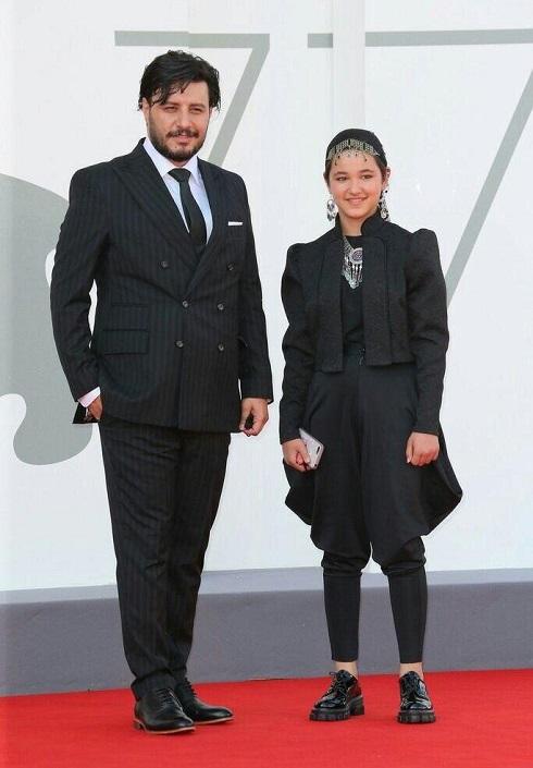 جواد عزتی و شمیلا شیرزاد در جشنواره ونیز