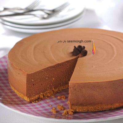 طرز تهیه چیز کیک شکلاتی بدون تخم مرغ,چیز کیک شکلاتی,چیز کیک شکلاتی بدون فر