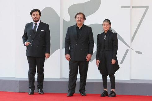 جواد عزتی، مجید مجیدی و شمیلا شیرزاد در جشنواره ونیز