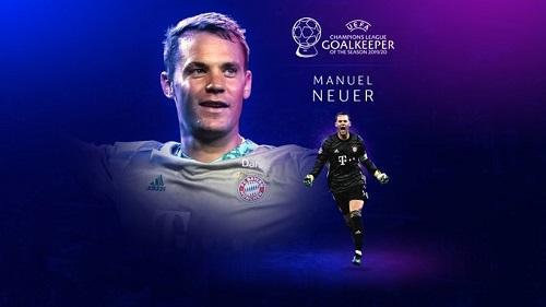 بهترین دروازهبان: مانوئل نویر (بایرن مونیخ آلمان)