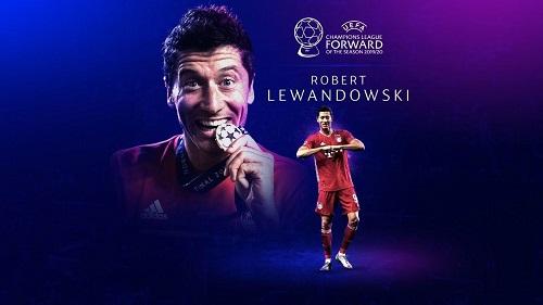 بهترین مهاجم: روبرت لواندوفسکی (بایرن مونیخ آلمان)