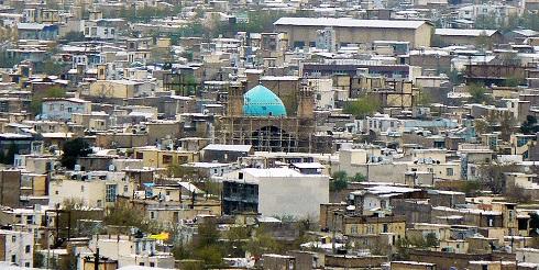 نمایی از شهر بروجرد و مسجد جامع بروجرد