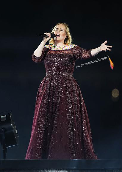 لباس شب پلاس سایز به سبک ادل Adele - مدل شماره 14,لباس شب,لباس شب سایز بزرگ,لباس شب پلاس سایز