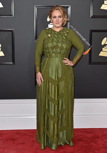 لباس شب پلاس سایز به سبک ادل Adele - مدل شماره 12,لباس شب,لباس شب سایز بزرگ,لباس شب پلاس سایز