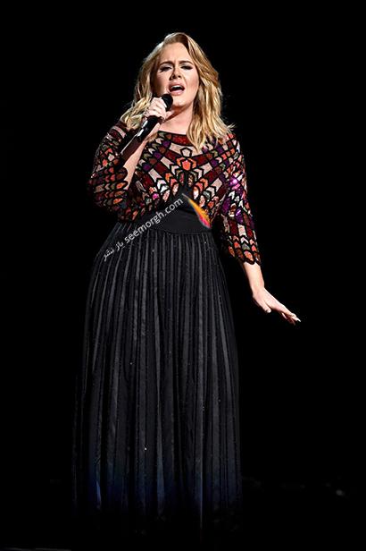 لباس شب پلاس سایز به سبک ادل Adele - مدل شماره 13,لباس شب,لباس شب سایز بزرگ,لباس شب پلاس سایز