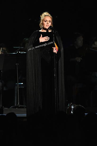 لباس شب پلاس سایز به سبک ادل Adele - مدل شماره 1,لباس شب,لباس شب سایز بزرگ,لباس شب پلاس سایز