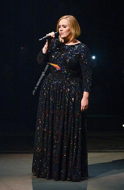 لباس شب پلاس سایز به سبک ادل Adele - مدل شماره 11,لباس شب,لباس شب سایز بزرگ,لباس شب پلاس سایز