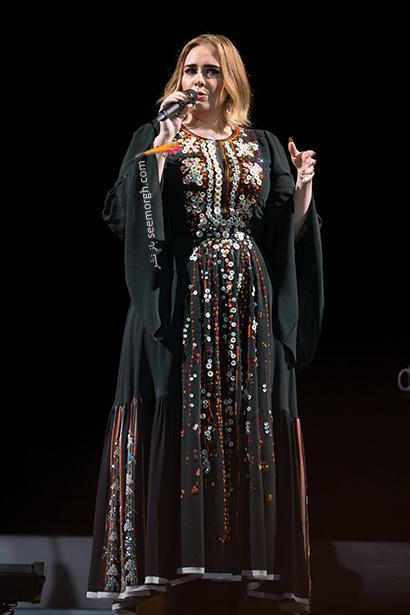 لباس شب پلاس سایز به سبک ادل Adele - مدل شماره 10,لباس شب,لباس شب سایز بزرگ,لباس شب پلاس سایز