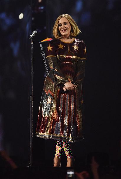 لباس شب پلاس سایز به سبک ادل Adele - مدل شماره 9,لباس شب,لباس شب سایز بزرگ,لباس شب پلاس سایز