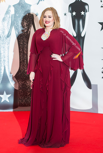 لباس شب پلاس سایز به سبک ادل Adele - مدل شماره 8,لباس شب,لباس شب سایز بزرگ,لباس شب پلاس سایز