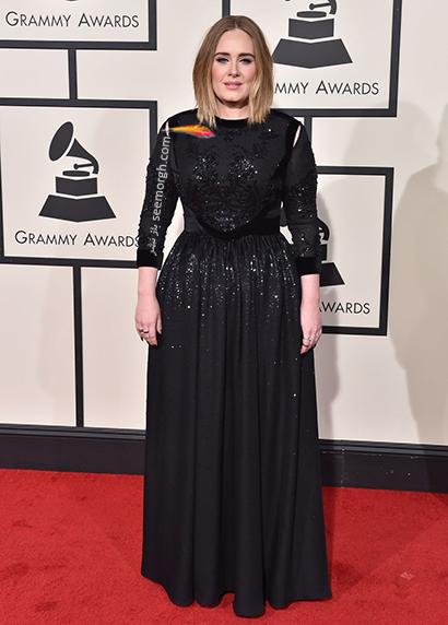 لباس شب پلاس سایز به سبک ادل Adele - مدل شماره 7,لباس شب,لباس شب سایز بزرگ,لباس شب پلاس سایز