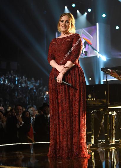 لباس شب پلاس سایز به سبک ادل Adele - مدل شماره 6,لباس شب,لباس شب سایز بزرگ,لباس شب پلاس سایز