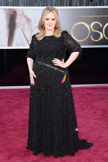 لباس شب پلاس سایز به سبک ادل Adele - مدل شماره 5,لباس شب,لباس شب سایز بزرگ,لباس شب پلاس سایز