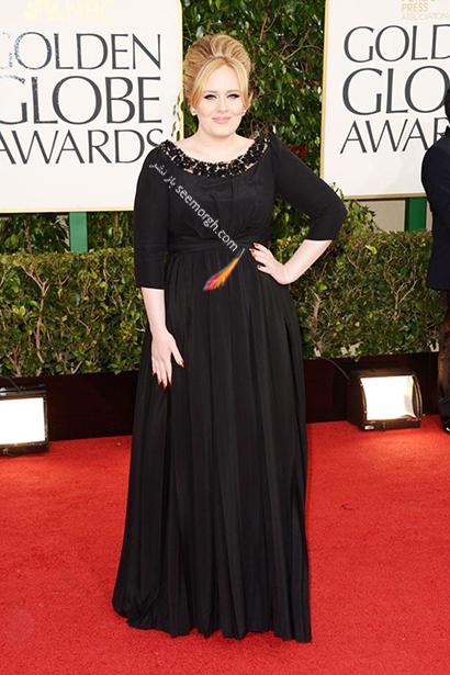 لباس شب پلاس سایز به سبک ادل Adele - مدل شماره 4,لباس شب,لباس شب سایز بزرگ,لباس شب پلاس سایز