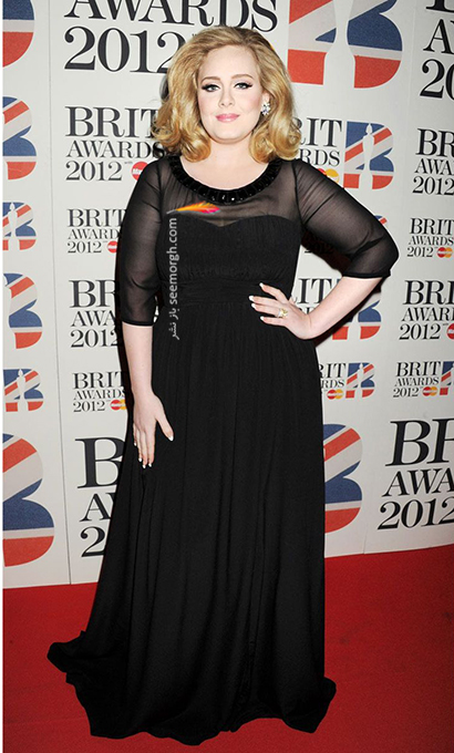 لباس شب پلاس سایز به سبک ادل Adele - مدل شماره 3,لباس شب,لباس شب سایز بزرگ,لباس شب پلاس سایز