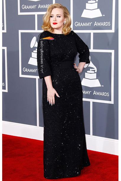 لباس شب پلاس سایز به سبک ادل Adele - مدل شماره 2,لباس شب,لباس شب سایز بزرگ,لباس شب پلاس سایز