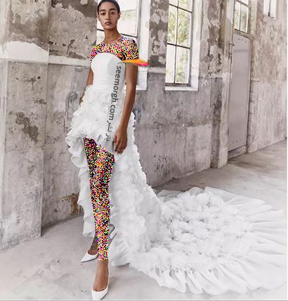 مدل لباس عروس ترند پاییز 2020 در دنیای مد - مدل شماره 1,لباس عروس,مدل لباس عروس,لباس عروس پاییزی