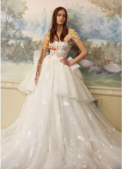 مدل لباس عروس ترند پاییز 2020 در دنیای مد - مدل شماره 2,لباس عروس,مدل لباس عروس,لباس عروس پاییزی