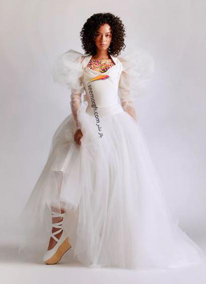 مدل لباس عروس ترند پاییز 2020 در دنیای مد - مدل شماره 7,لباس عروس,مدل لباس عروس,لباس عروس پاییزی