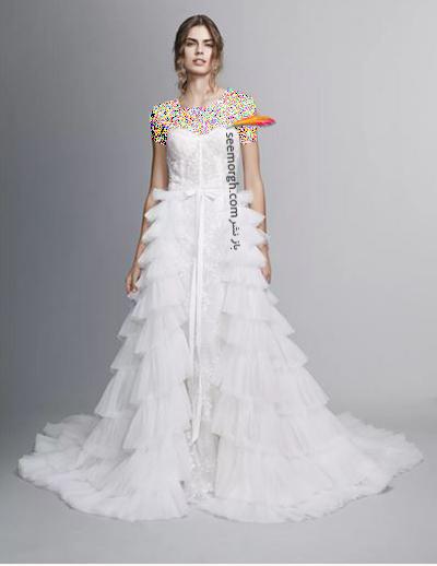 مدل لباس عروس ترند پاییز 2020 در دنیای مد - مدل شماره 5,لباس عروس,مدل لباس عروس,لباس عروس پاییزی
