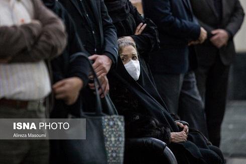 همسر اول استاد شجریان در مراسم تشییع