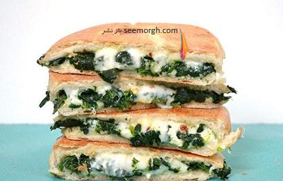 طرز تهیه ساندویچ اسفناج و پنیر