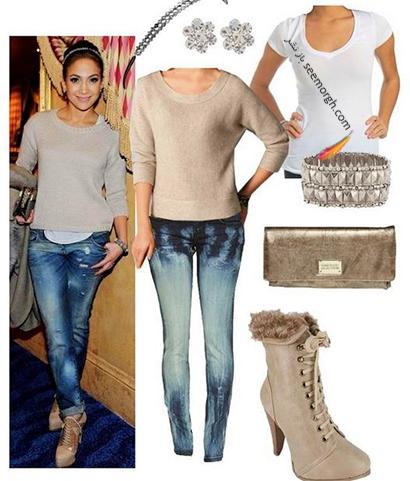 ست کردن شلوار جین به سبک جنیفر لوپز Jennifer Lopez برای پاییز 2020 - ست شماره 1,شلوار جین,ست کردن شلوار حین,ست کردن شلوار جین به سبک جنیفر لوپز,ست کردن شلوار جین برای پاییز