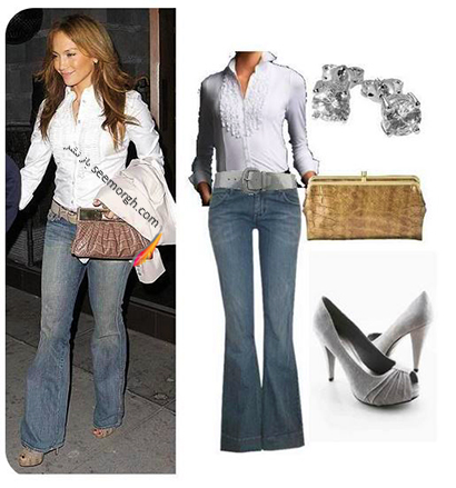 ست کردن شلوار جین به سبک جنیفر لوپز Jennifer Lopez برای پاییز 2020 - ست شماره 9,شلوار جین,ست کردن شلوار حین,ست کردن شلوار جین به سبک جنیفر لوپز,ست کردن شلوار جین برای پاییز