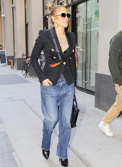 ست کردن شلوار جین به سبک جنیفر لوپز Jennifer Lopez برای پاییز 2020 - ست شماره 7,شلوار جین,ست کردن شلوار حین,ست کردن شلوار جین به سبک جنیفر لوپز,ست کردن شلوار جین برای پاییز
