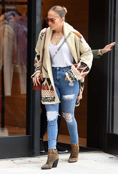 ست کردن شلوار جین به سبک جنیفر لوپز Jennifer Lopez برای پاییز 2020 - ست شماره 4,شلوار جین,ست کردن شلوار حین,ست کردن شلوار جین به سبک جنیفر لوپز,ست کردن شلوار جین برای پاییز