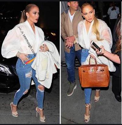 ست کردن شلوار جین به سبک جنیفر لوپز Jennifer Lopez برای پاییز 2020 - ست شماره 3,شلوار جین,ست کردن شلوار حین,ست کردن شلوار جین به سبک جنیفر لوپز,ست کردن شلوار جین برای پاییز