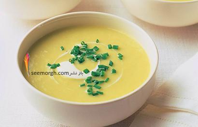 طرز تهیه سوپ تره فرنگی و سی زمینی,سوپ تره فرنگی