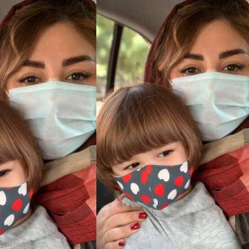 عکس جدید نیوشا ضیغمی در کنار دخترش