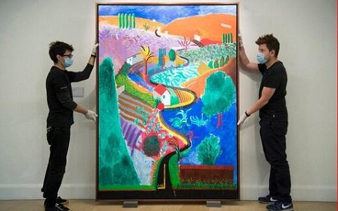 تابلو نقاشی اثر دیوید هاکنی Nichols Canyon David Hockney