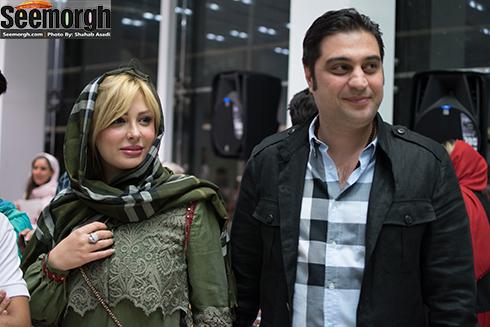 نیوشا ضیغمی در کنار همسرش آرش پولادخان